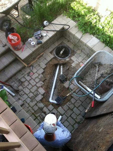 Patio and drainage Project in West Chicago
